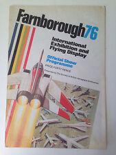 Farnborough (Airshow) 76 Official Flying Display Program 1976