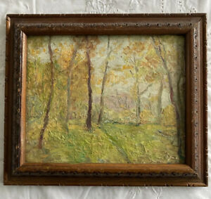Oil Attributed To Allen Townsend Terrell (1897-1986) Wooded Landscape