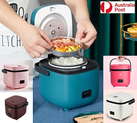 Electric Rice Cooker 1.2L Portable Mini Small Rice Cook 5Colours 3Cups 1-2Person