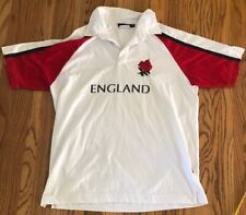 England Rugby Jersey Size Small White And Red English Rose Polyester cotton