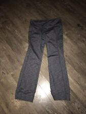 Womens Gray Athleta Exercise Workout Tights Flat Front Pants L
