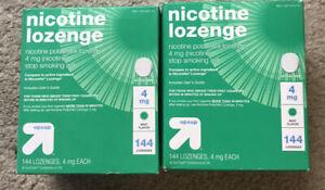 Up&Up Nicotine Lozenge 4mg Mint Flavor 144 Lozenge, Lot of 2, Exp 2022.