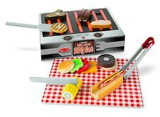 MELISSA AND DOUG GRILL & SERVE BBQ PLAY FOOD SET WOODEN TOY BRAND NEW & SEALED
