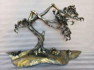 Brass Metal Sculpture Tree Virgil l. Goodman 1976