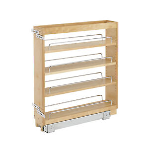 Rev A Shelf 5 in Pull Out Wood Base Kitchen Cabinet Organizer Maple (Open Box)