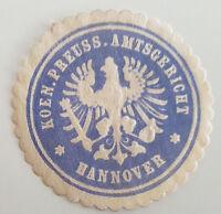 Koen. Preuss. Amtsgericht Hannover Siegelmarke Vignette (7437)