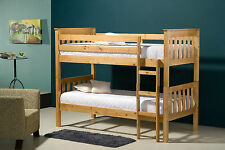 Seattle Solid Pine Bunk Bed split into 3FT Singles with Mattress options