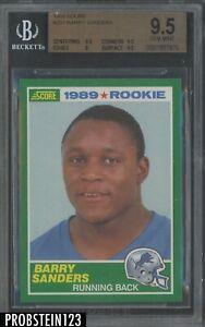 1989 Score Football #257 Barry Sanders Detroit Lions RC Rookie HOF BGS 9.5