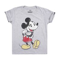Disney - Mickey Vintage - Boys - T-shirt - Grey