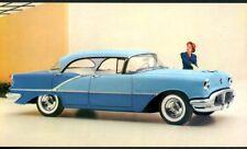 """ANTIQUE AUTOS, 1956 OLDSMOBILE SUPER """"88"""" HOLIDAY SEDAN, AD ON BACK,UNUSED, (384"""