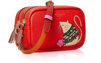 NEW Tory Burch Rita The Rat Mini Bag Perry Bombe Crossbody Red Double Zipper HTF