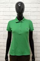 FRED PERRY Polo Donna Taglia L Maglia Maglietta Camicia Shirt Woman Slim Fit Top