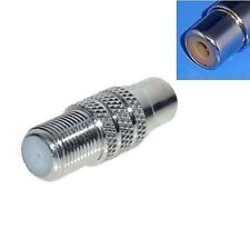 LNB Satellite Video Coax Chinch Adapter Plug F - Coupling Socket Female Cinch
