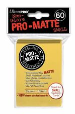 180 3pk Ultra Pro Pro-Matte Small Mini Deck Protector Card Game Sleeves Yellow