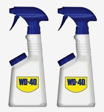 2 WD-40 16 oz EMPTY Spray Bottle Durable Plastic Fill Lubricant Adjustable 10100