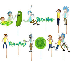 RICK AND MORTY CAKE TOPPER TOPPERS CUPCAKE BALLOON SUPPLIES DECORATIONS
