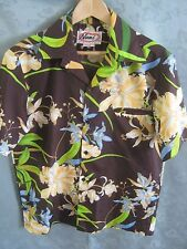 Vintage Nani Hawaiian Aloha Shirt Size Medium Polyester