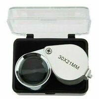 NEW Mini Jewelry Loupe Magnifying Glass Jewelry Eye Lens Magnifier 30x21mm