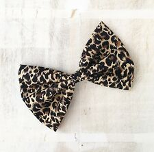 Leopard animal print Rockabilly Pin up hair bow clip