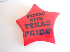 Vintage Sheriff's Badge Served with Texas Pride Tourism or Advertising Pinback