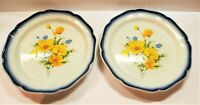 Set of 2 Mikasa Country Club Amy Dinner Plates Made in Japan CA503
