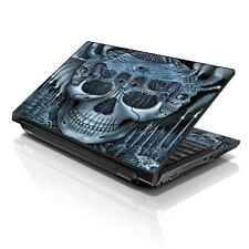 "17.3"" 18"" 19"" Laptop Notebook Skin Sticker Protective Decal Blue Skull L-15123"
