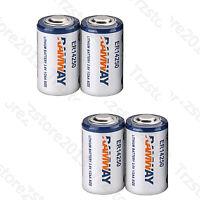 3.6V 1/2AA ER14250 LS14250 1200mAh Disposable Lion Lithum Battery - 4PCS