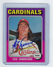 1975 CARDINALS Ted Simmons signed card Topps #75 AUTO Autograhed St. Louis HOFer