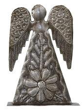 Small Flower Angel, Haitian Metal Art, NEW!