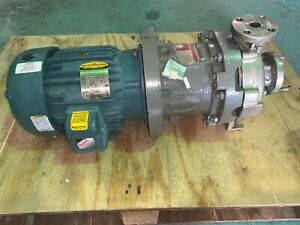 """Centrifugal Pump Durco / Flowserve Magnetic Drive 11/2"""" x 1"""" 150lb Flanged ends"""