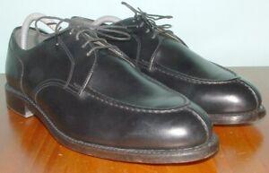 Footjoy split toe lace up black leather shoes