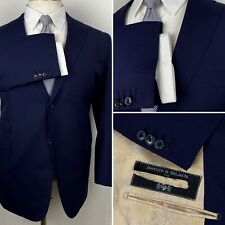 Astor & Black Gladson Wool Made To Measure Navy Blue Blazer Sport Coat 52R