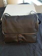 NEW PRADA BLACK LOGO CROSS-BODY SHOULDER MESSENGER BAG