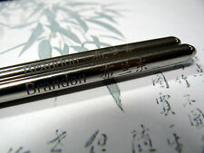 """Round """"silver"""" Steel Metal Chopsticks Fully Personalised for a chinese east gift"""