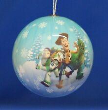Woody Rex Buzz Round Christmas Ornament Disney Pixar Toy Story 2012 Figurine