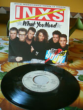 INXS - What you need PROMO COPY 45/7 inches italian press 1986 as new!