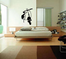 CLASSIC VESPA WALL ART  Wall quote art sticker Decal removable sticker # R2