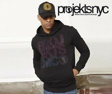 Projekts NYC mens black hoodie hooded top in size small new with tags