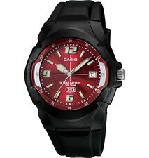 Casio Men's 10 Year Battery Watch, Red Dial, 100 Meter WR,  MW600F-4AV