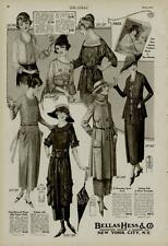 1920 FASHION PAGE 2-ADS / BELLAS HESS & CO. NEW YORK CITY, N.Y. - GREAT STYLES