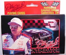 DALE EARNHARDT SR The Intimidator Playing Cards Embossed Tin Box Set Made in USA
