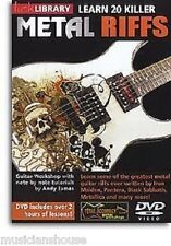 Bibliothèque lécher apprendre 20 killer riffs metal Iron Maiden guns n roses Guitare DVD