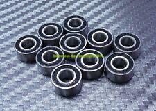 [20 Pcs] MR115-2RS (5x11x4 mm) Rubber Sealed Ball Bearing Bearings MR115RS BLACK