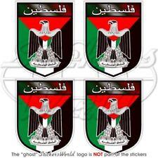 Palestine Écusson État Palestinien, 50mm Vinyl Sticker, Autocollant x4