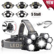 120000LM T6 x 7 LED lampada frontale ricaricabile testa luce torcia 18650 Torcia