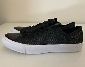 Converse Chuck Taylor All Star Flyknit Ox Low Black White 157591C Mens Sz 10 NEW