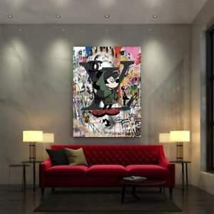 BILD AUF LEINWAND   Mickey Mouse   Pop Art Street   DEKO BILD   XXL   POSTER  