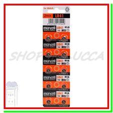 10 BATTERIE PILE MAXELL LR41 AG3 G3 L736F 192 GP92A 392 SR41 384 SR736SW SR736W