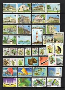 FIJI MODERN GOOD TO FINE USED RANGE x 40 STAMPS NOT CAT BY ME.NICE BIRD STAMPS