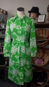 Leslie Fay Vintage Floral Shirt Dress